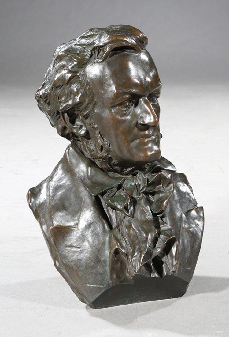 Patinated Bronze Bust of a Gentleman - 2