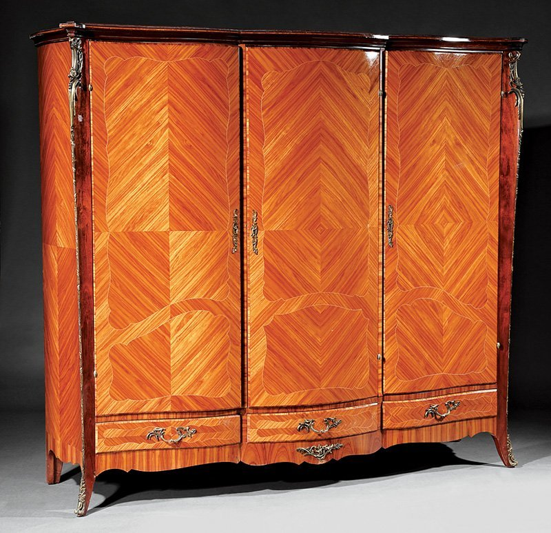 Kingwood Parquetry and Gilt Metal-Mounted Armoire