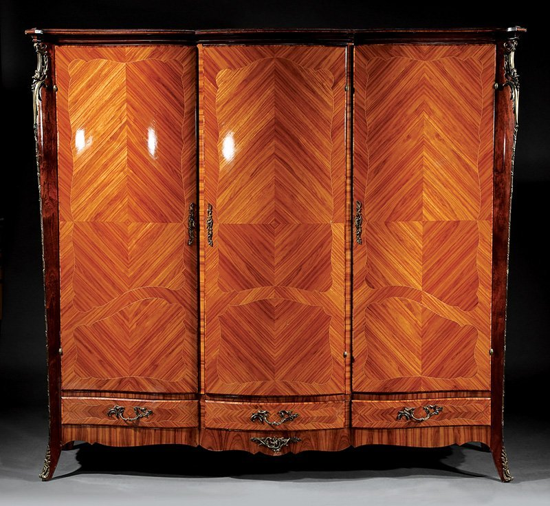 Kingwood Parquetry and Gilt Metal-Mounted Armoire - 2