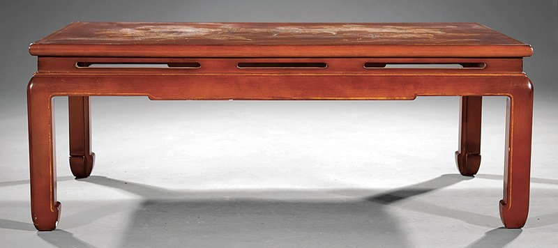 Chinoiserie Lacquered Wood Low Table
