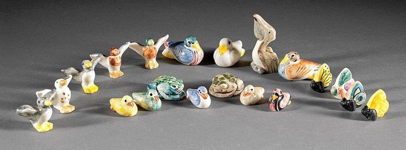 Twenty Shearwater Pottery Animal Figurines