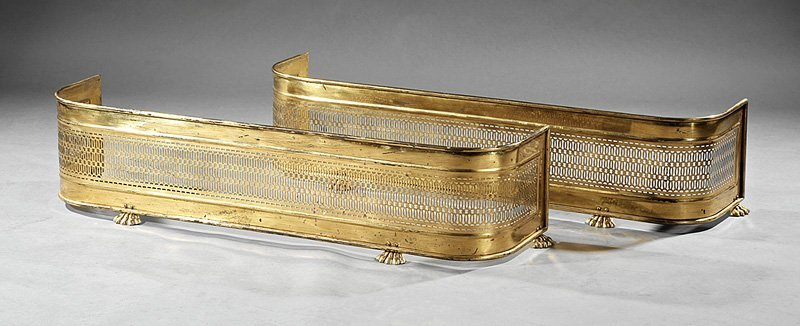 Pair of Brass Fireplace Fenders