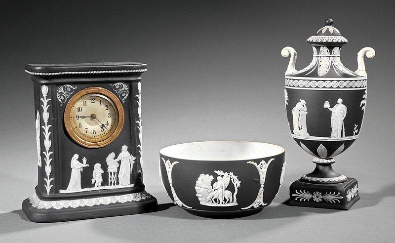 Wedgwood Black and White Jasperware Objects