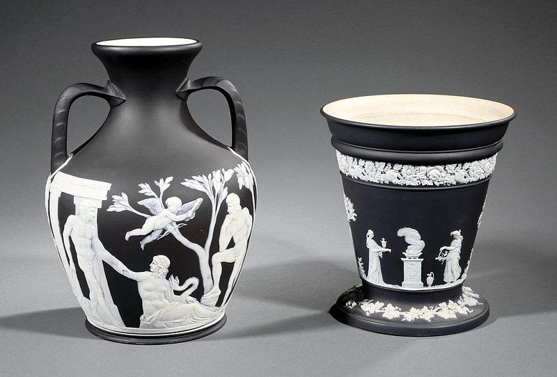 Wedgwood Black and White Jasperware Portland Vase