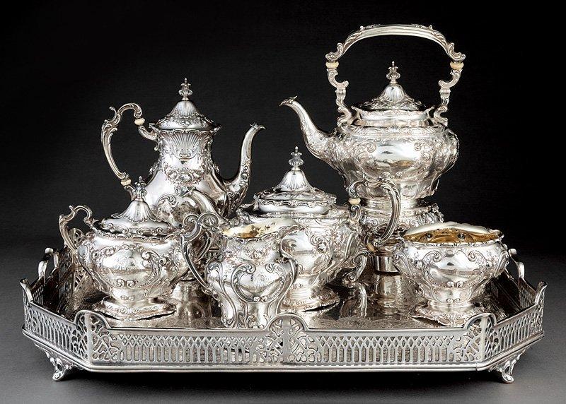 Gorham Sterling Silver Coffee & Tea Service - 3