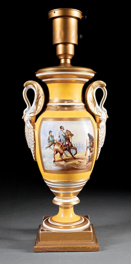 Pair of Paris Porcelain Vases