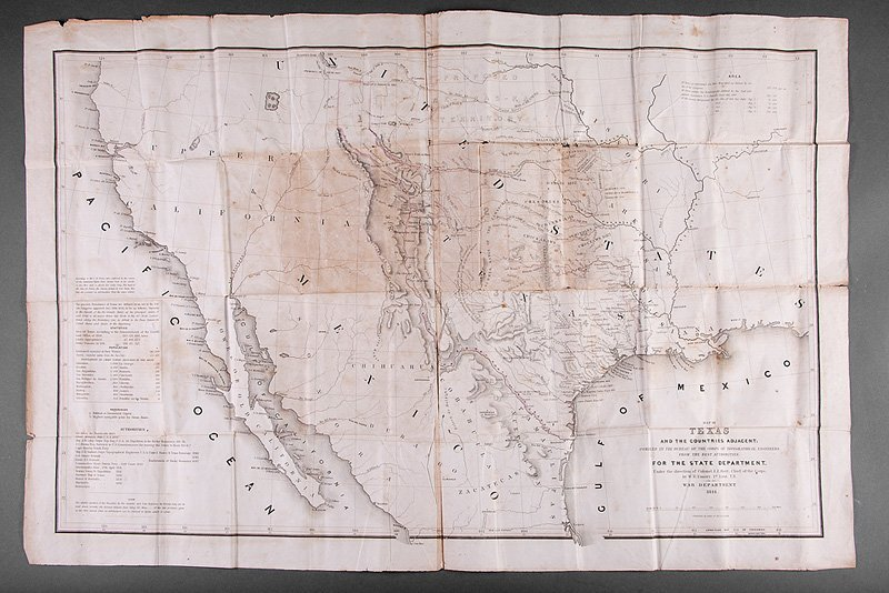 William H. Emory Map of Texas, 1844