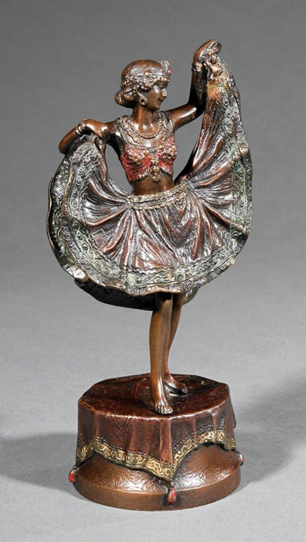 Austrian Cold-Painted Bronze Erotic Figure