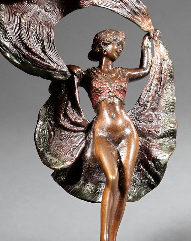 Austrian Cold-Painted Bronze Erotic Figure - 2