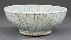 Chinese Guan or GeType Stoneware Bowl