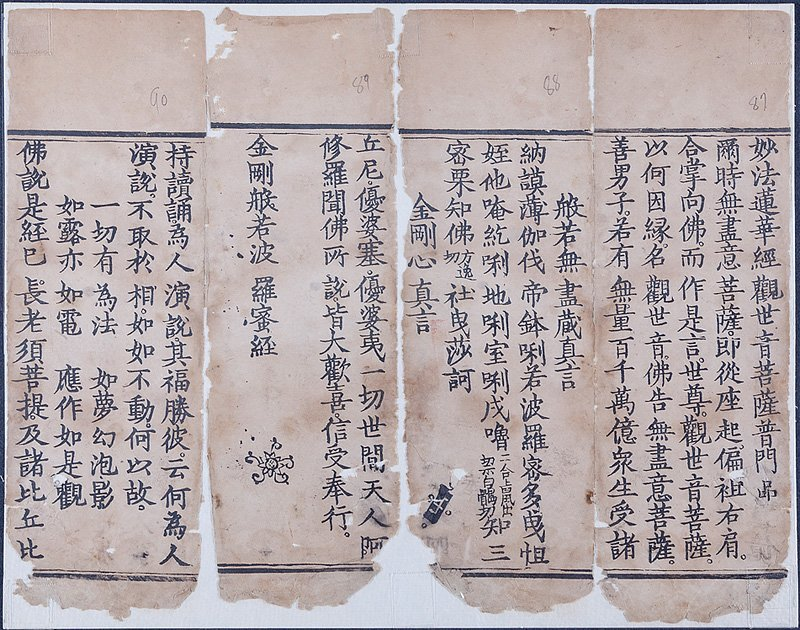 Chinese Manuscript Fragment - 4
