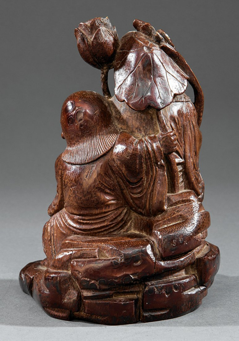 Chinese Bamboo Figural of the HeHe Erxian Twins - 3