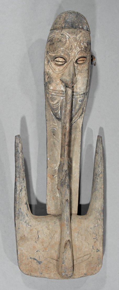Oceanic Carved Wood Basket Hook