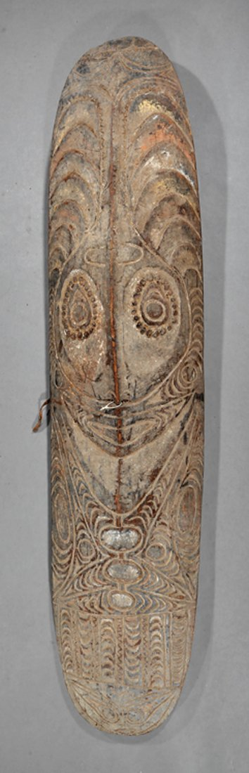 Oceanic Carved Wood Shield/Gope Spirit Board