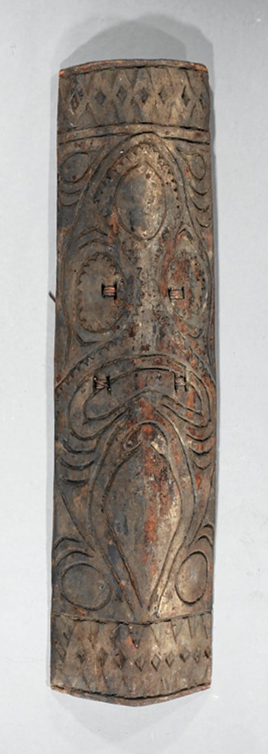 Oceanic Carved Wood Shield