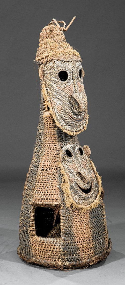 Oceanic Cane Basketry Mask