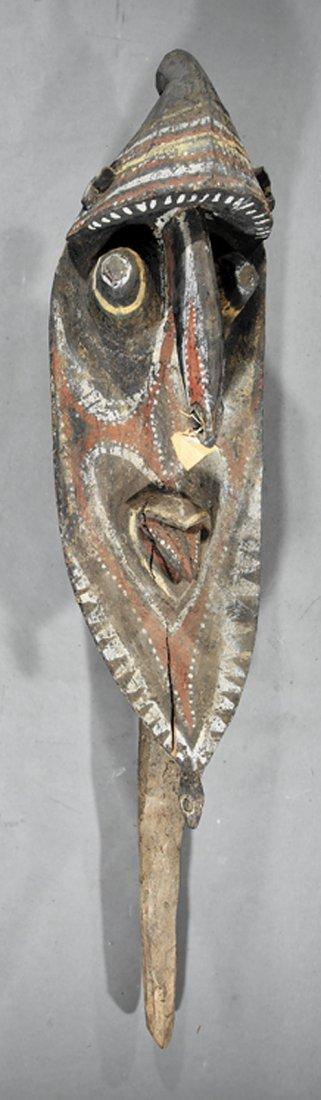 Oceanic Polychrome Painted Wood Yam Yena Head