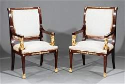 EmpireStyle BronzeMounted Mahogany Salon Set