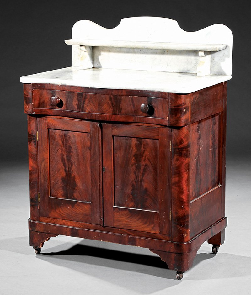 American Late Classical Mahogany Washstand