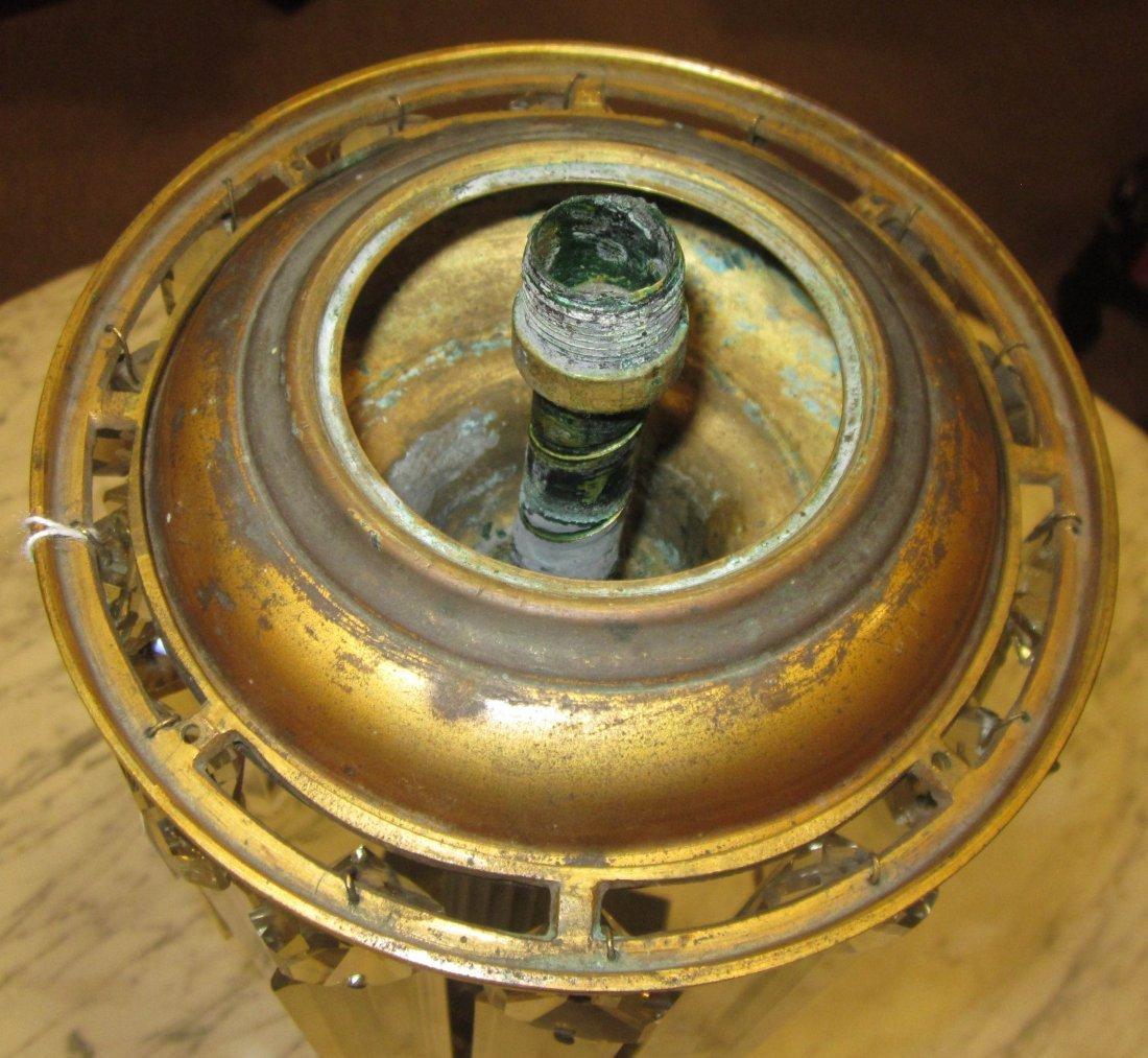Patinated Bronze Solar Lamp, marked Cornelius - 4