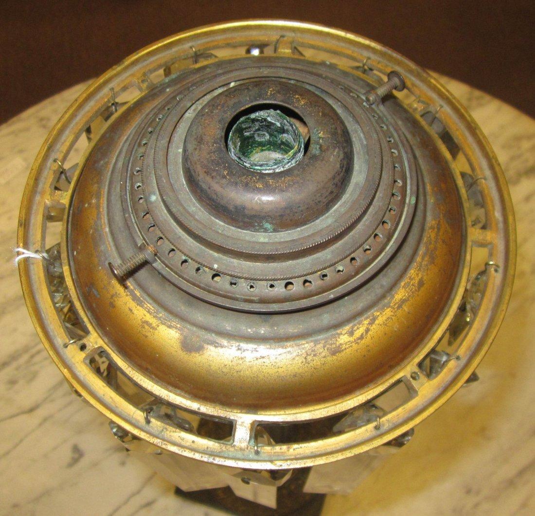 Patinated Bronze Solar Lamp, marked Cornelius - 6