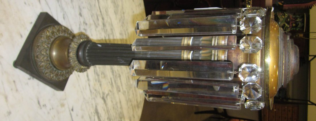 Patinated Bronze Solar Lamp, marked Cornelius - 9