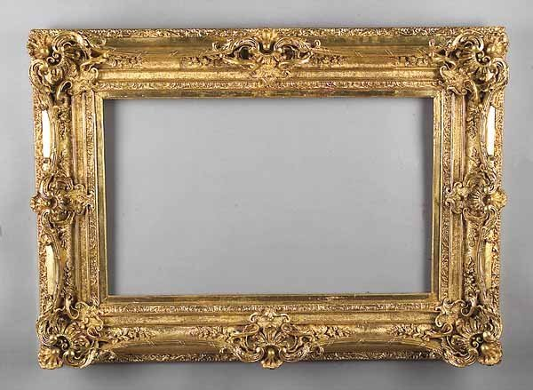 0002: Fine Antique French Carved and Gilded Frame, Anci