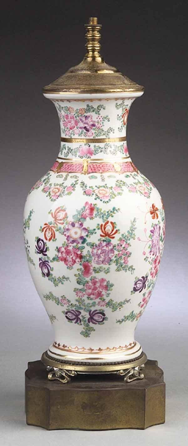 0004: Continental Porcelain Vase, probably Samson