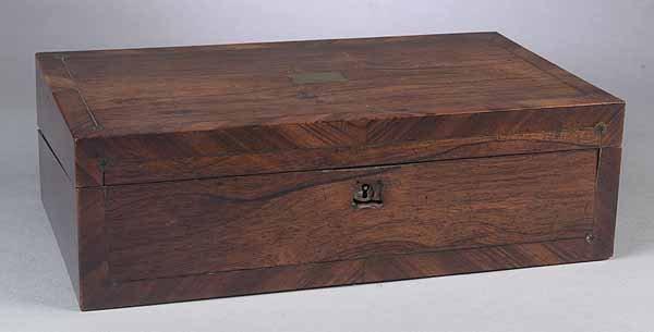 0014: William IV Rosewood Writing Box, c. 1840