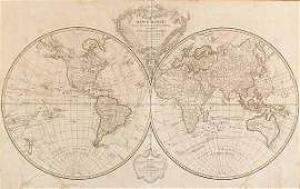 0032 Double Hemisphere World Map 1786 by Robert de V