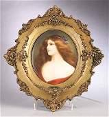 0072: KPM Porcelain Plaque, c. 1870-1880, decorated by