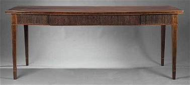 0165 Antique GeorgianStyle Mahogany Side Table