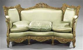 0466: Belle Epoque Carved and Giltwood Sofa
