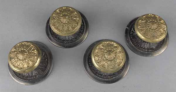 0579: Set of Four French Gilt and Patinated Bronze Curt
