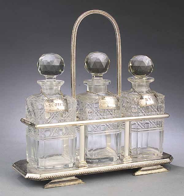 0581: English Victorian Silverplate and Cut-Glass Three