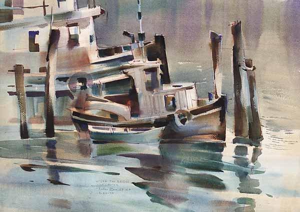 0989: Rex Brandt, N.A., Watercolor, Signed