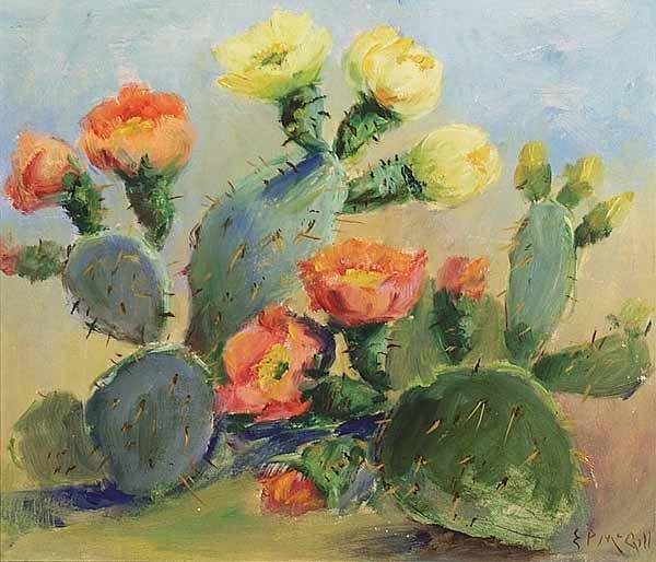 1089: Eloise Polk McGill, Oil on Canvas affixed to Wood