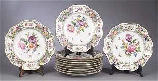 A Set of Twelve Dresden Porcelain Reti