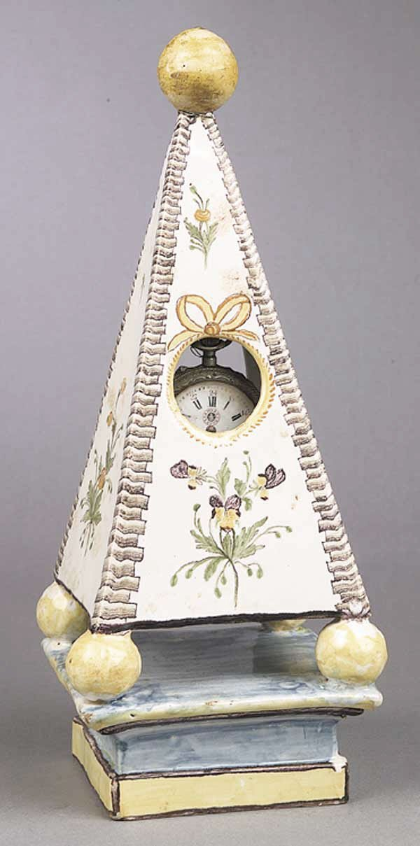 0011: A French Faience Obelisk Watch Stand