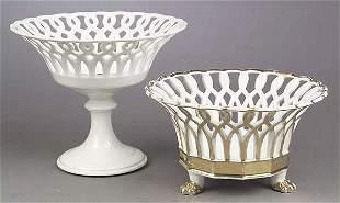 A Paris Porcelain Gilt Corbeille