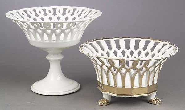 0012: A Paris Porcelain Gilt Corbeille