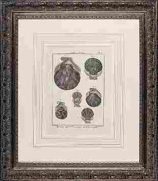 A Set of Six Handcolored Engravings De