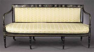 A Regency Black Lacquer, Gilt and Pain