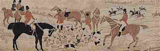 0337: A Set of Three Stevengraphs Depicting
