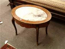 An Inlaid Mahogany Coffee Table in the
