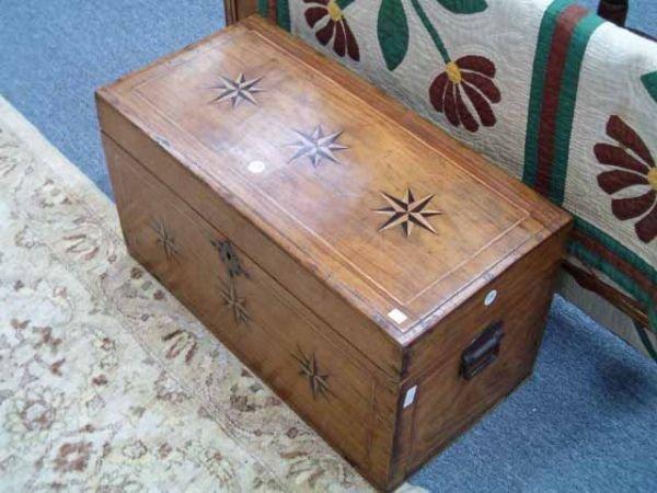 0772: An Antique Teakwood or Mahogany Six-Bo