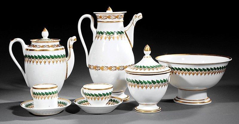 Paris Porcelain Coffee and Tea Service