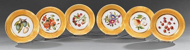 6 Schoelcher Paris Porcelain Plates