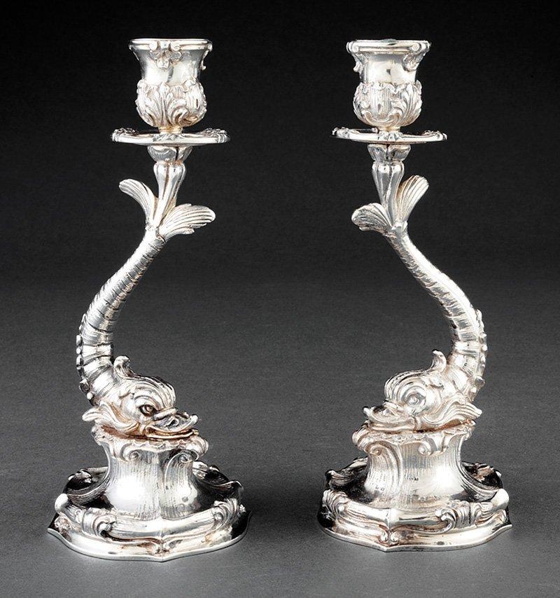 Pair of Buccellati Candlesticks