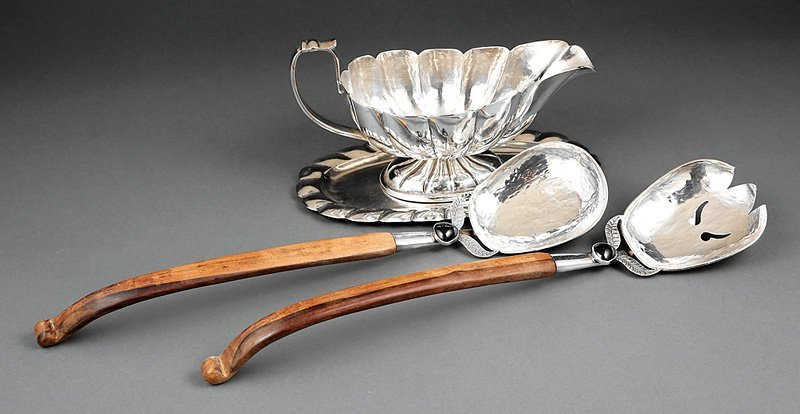 Peruvian Serving Fork and Spoon
